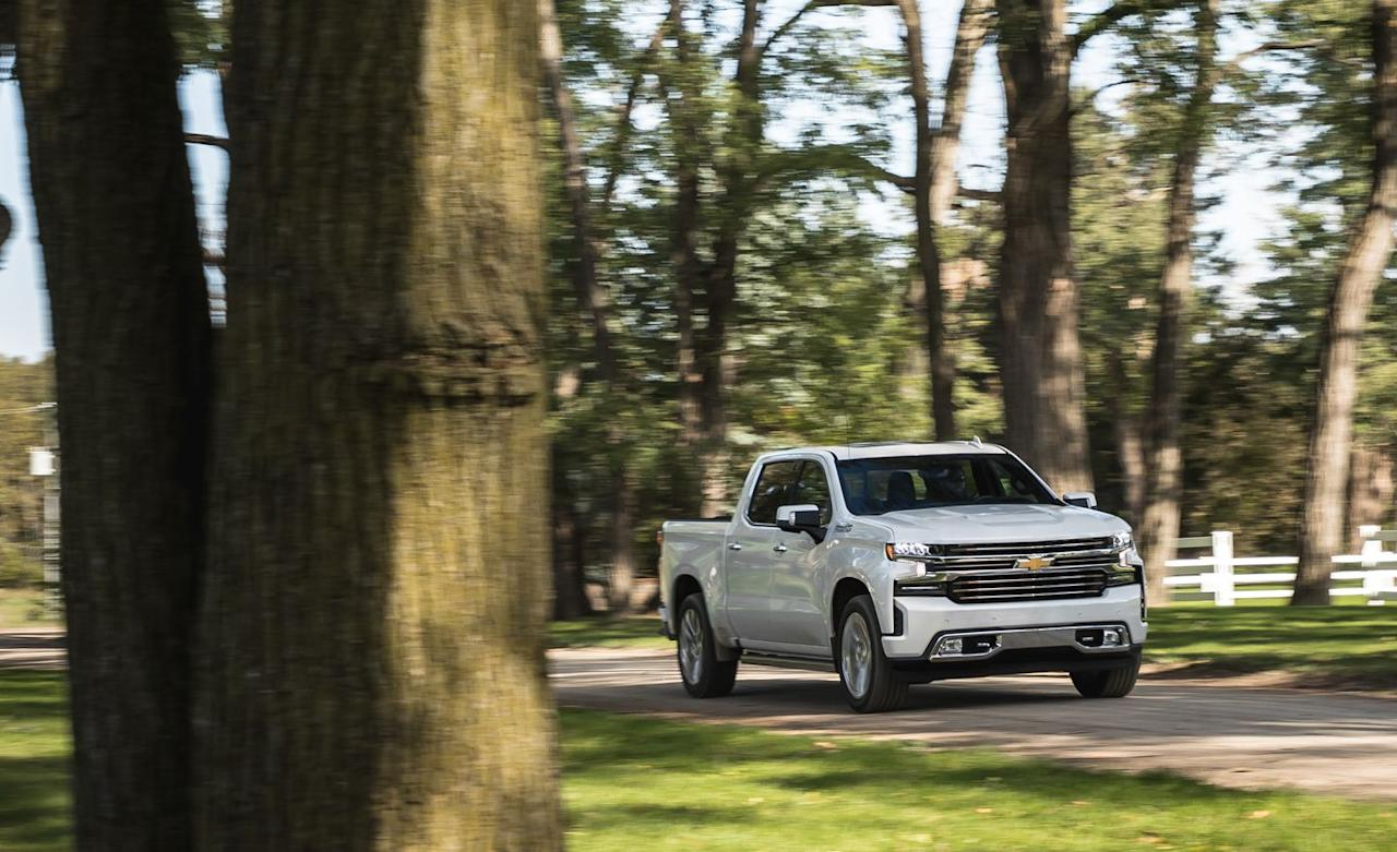 <p>Its 420 horsepower and 460 lb-ft of torque earn barstool-bragging rights over not only Ford's 5.0-liter and Ram's 5.7-liter Hemi but also Toyota's 5.7 and Nissan's 5.6.</p>