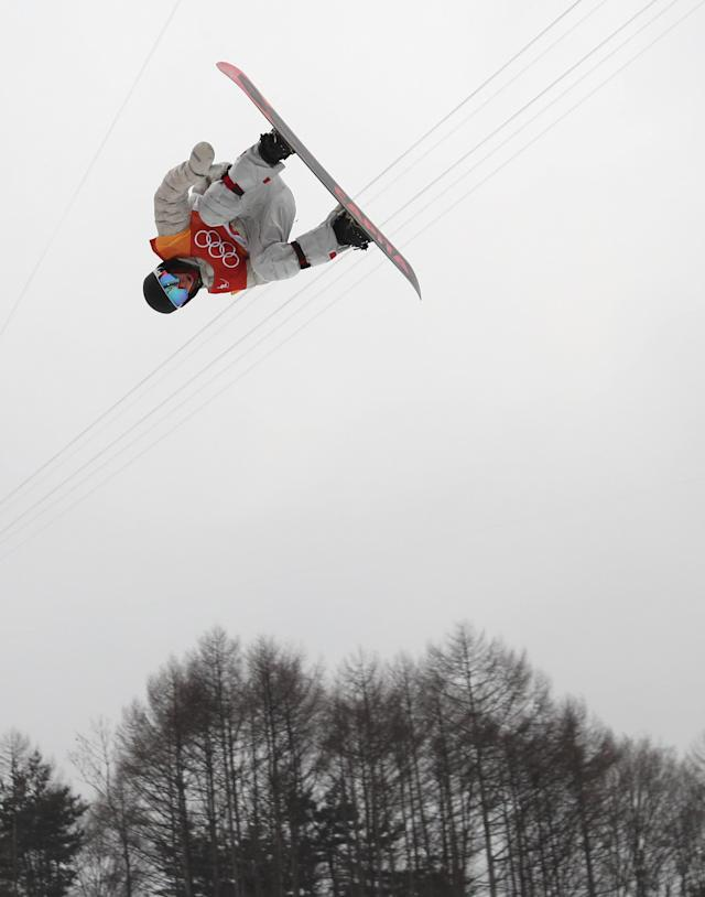 <p>Bongpyeong-myeon (Korea, Republic Of), 14/02/2018.- Chase Josey of the US in action during the Men's Snowboard Halfpipe competition at the Bokwang Phoenix Park during the PyeongChang 2018 Olympic Games, South Korea, 14 February 2018. (Fénix, Corea del Sur) EFE/EPA/FAZRY ISMAIL </p>