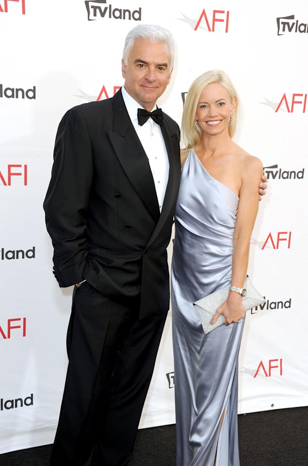 John O'Hurley and Lisa Mesloh arrive at AFI's 40th Annual Life Achievement Award held at Sony Pictures Studios on June 7, 2012 in Culver City, California.