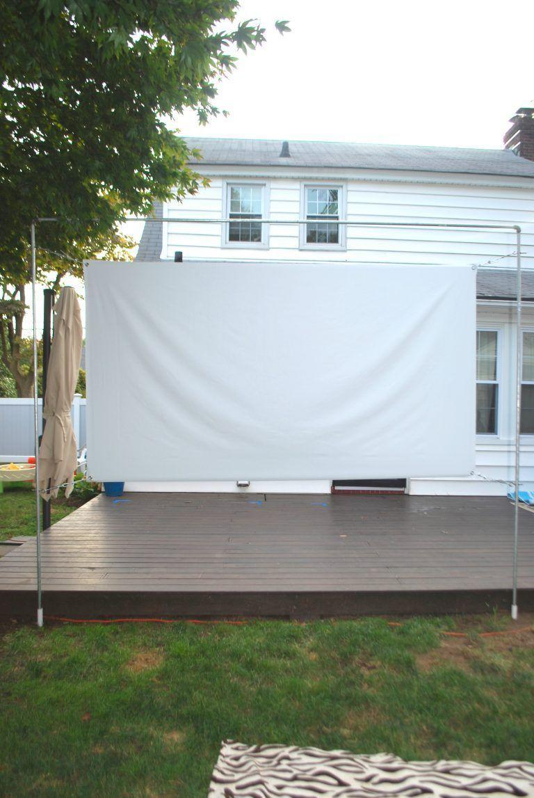 """<p>A sleek and affordable option is to build a screen stand using half inch galvanized pipe. Effortless Style offers <a href=""""https://blog.effortless-style.com/2018/10/17300/"""" rel=""""nofollow noopener"""" target=""""_blank"""" data-ylk=""""slk:instructions on the necessary materials"""" class=""""link rapid-noclick-resp"""">instructions on the necessary materials</a> that you can pick up at your local hardware store, as well as how to put them together. </p><p><strong>See more at <a href=""""https://blog.effortless-style.com/2018/10/17300/"""" rel=""""nofollow noopener"""" target=""""_blank"""" data-ylk=""""slk:Effortless Style"""" class=""""link rapid-noclick-resp"""">Effortless Style</a>.</strong></p>"""