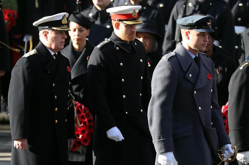 Prince Andrew, Prince William, and Prince Harry (Chris Jackson/Getty Images)