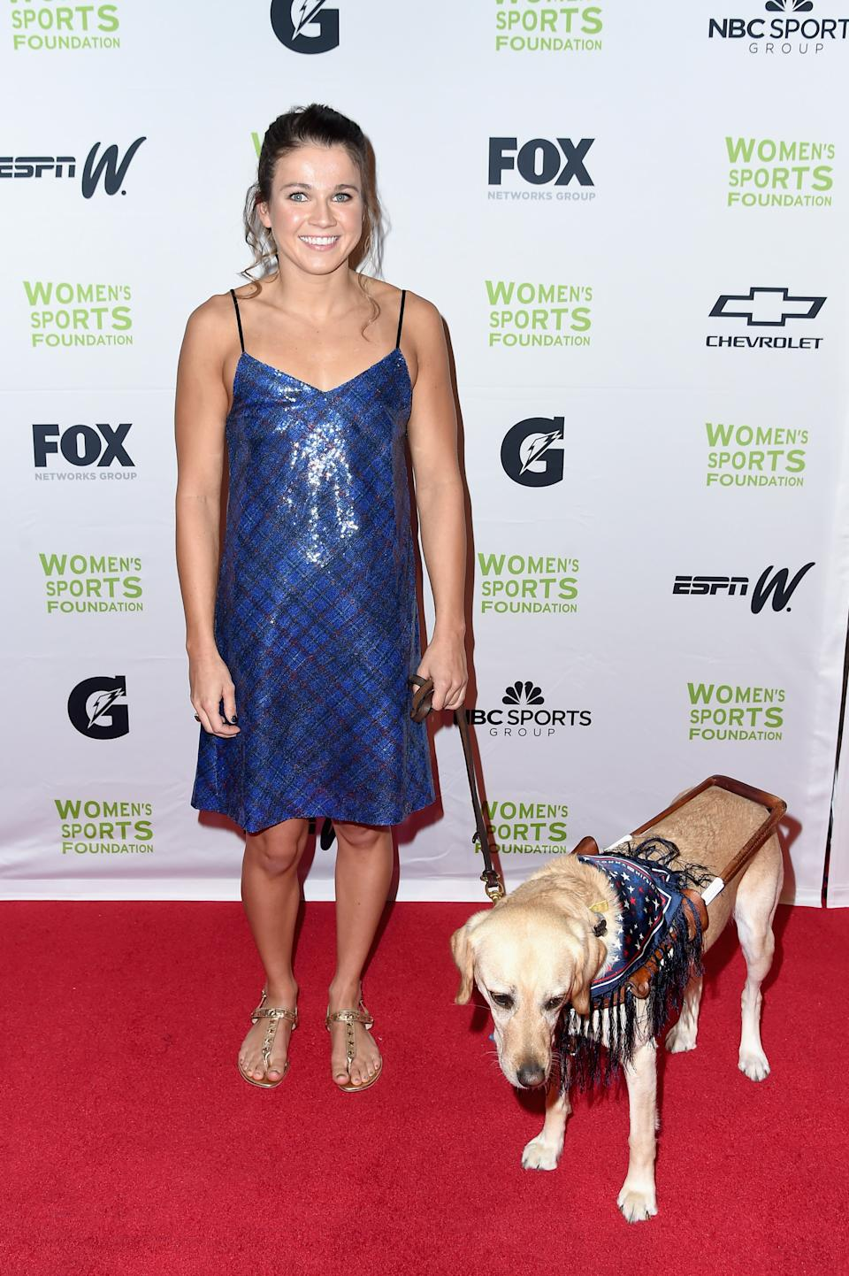 Becca Meyers 2017 in New York City. (Bild: Nicholas Hunt/Getty Images for Women's Sports Foundation)