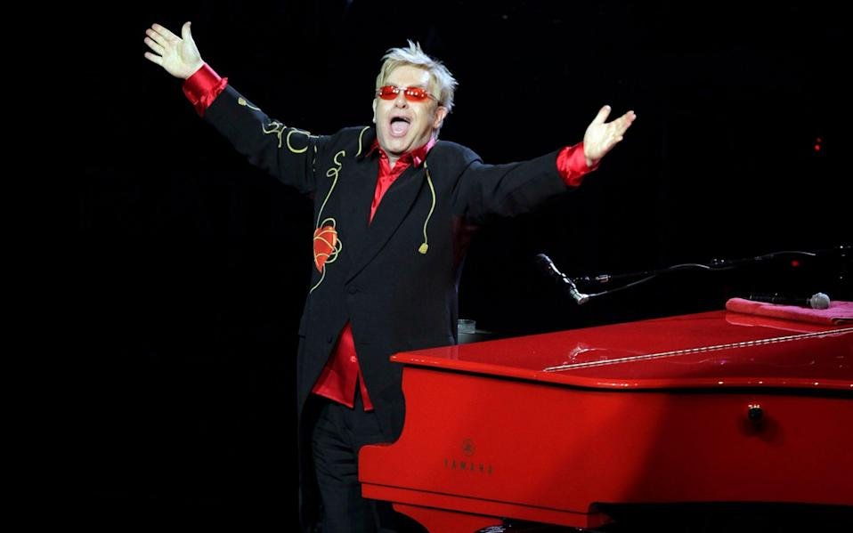 Sir Elton John at his Red Piano show in Las Vegas - Jae C Hong/AP