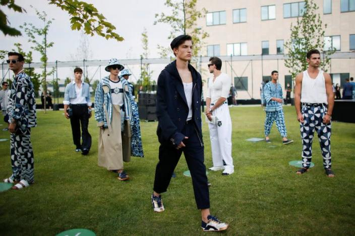 Dolce & Gabbana presents its Spring/Summer 2021 men's collection at a live-streamed show in Rozzano, south of Milan