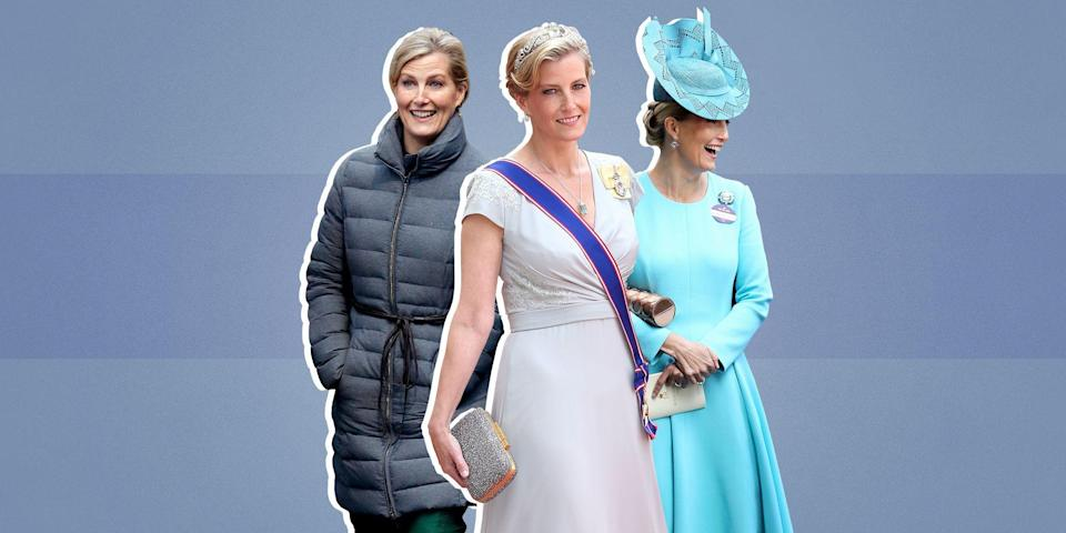 """<p>Sure, the outfits Duchesses <a href=""""https://www.townandcountrymag.com/style/fashion-trends/g3272/meghan-markle-preppy-style/"""" rel=""""nofollow noopener"""" target=""""_blank"""" data-ylk=""""slk:Meghan"""" class=""""link rapid-noclick-resp"""">Meghan</a> and <a href=""""https://www.townandcountrymag.com/style/fashion-trends/news/g1633/kate-middleton-fashion/"""" rel=""""nofollow noopener"""" target=""""_blank"""" data-ylk=""""slk:Kate"""" class=""""link rapid-noclick-resp"""">Kate</a> wear to royal events may dominate the headlines, but <a href=""""https://www.townandcountrymag.com/society/tradition/a12808670/prince-edward-facts/"""" rel=""""nofollow noopener"""" target=""""_blank"""" data-ylk=""""slk:Prince Edward"""" class=""""link rapid-noclick-resp"""">Prince Edward</a>'s wife, Sophie, the Countess of Wessex is a style icon in her own right. Read on to see some of her most memorable looks.</p>"""