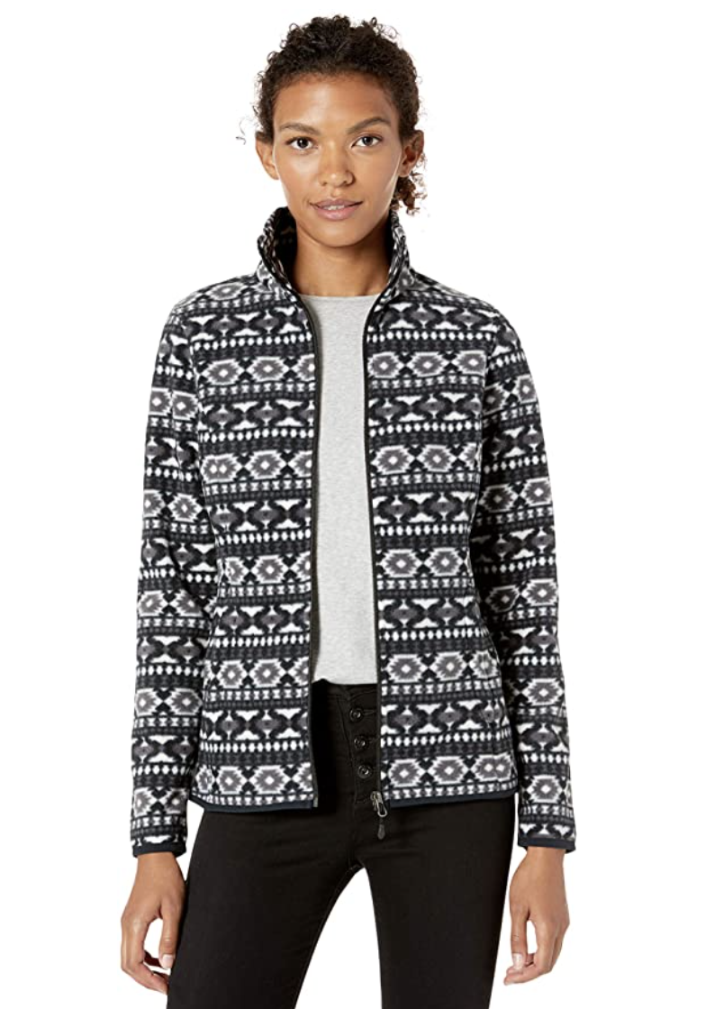 Amazon Essentials Women's Full-Zip Polar Fleece Jacket, $28.