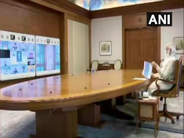 PM Modi chairs meeting on prospect of Class 12th exams (Photo/ANI)