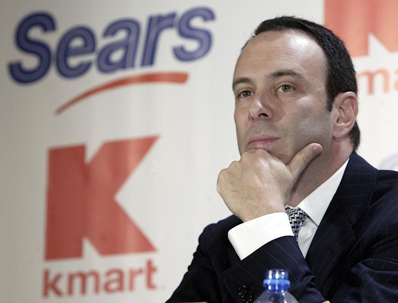 Sears CEO Edward Lampert during a news conference to