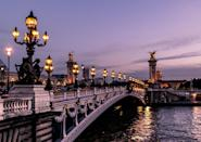 <p><em>Flight time: One hour 20 minutes</em><br><span>The perfect choice for romantics looking for a mood booster, a trip to the city of love offers everything from art (don't miss the Louvre) to architecture (simply gaze at the Notre Dame cathedral for a fine example of gothic style). Wrap up warm and stroll beside the River Seine, stopping off in a cafe for a Parisian coffee or croque monsieur sandwich. Flybmi flies from Bristol to Paris from £73 return. </span> </p>