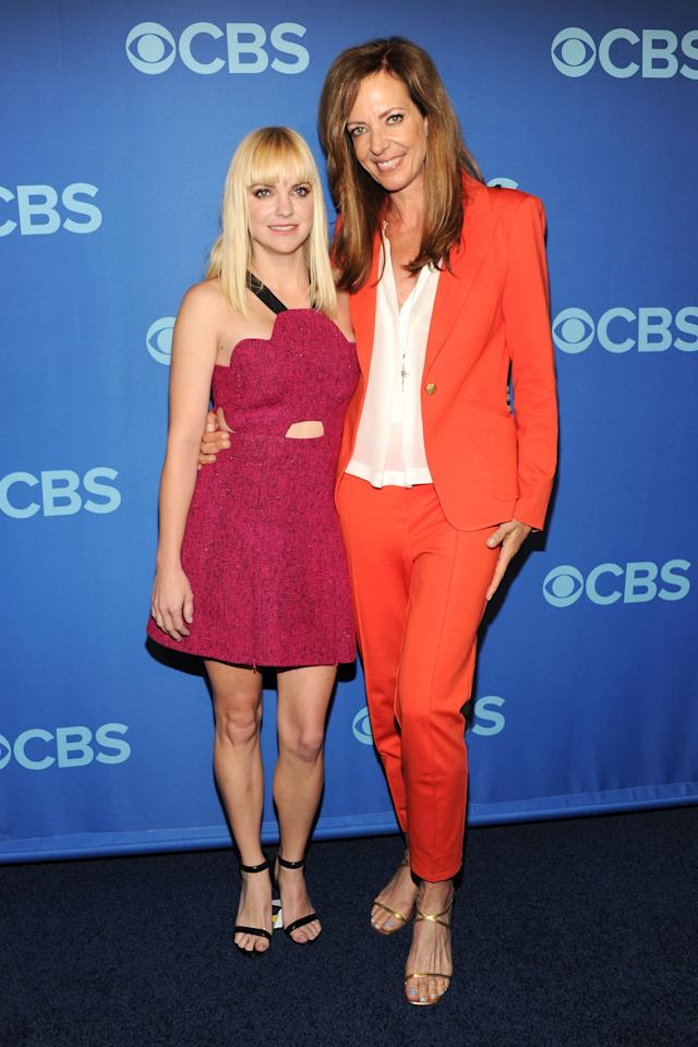 NEW YORK, NY - MAY 15:  (L-R) Cast members of Mom Anna Faris and Allison Janney attend CBS 2013 Upfront Presentation at The Tent at Lincoln Center on May 15, 2013 in New York City.  (Photo by Ben Gabbe/Getty Images)