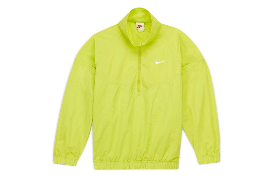 "$200, Nike. <a href=""https://www.nike.com/t/st%C3%BCssy-windrunner-jacket-rGhN9B/CT4310-308"" rel=""nofollow noopener"" target=""_blank"" data-ylk=""slk:Get it now!"" class=""link rapid-noclick-resp"">Get it now!</a>"