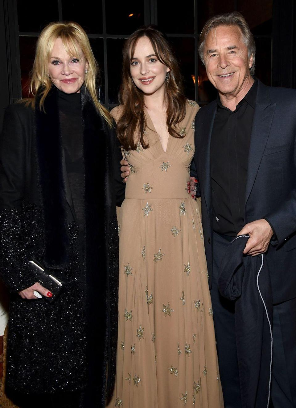 """<p><strong>Famous parent(s): </strong>actors Don Johnson and Melanie Griffith <br><strong>Wh</strong><strong>at it was like: </strong>As she has put it, she grew up watching both her parents on screen. """"I lost my mind! I couldn't deal with that at all.""""</p>"""