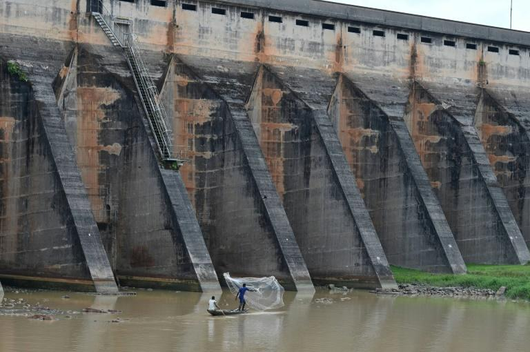 The water level at Ayame dam has fallen by five metres (15 feet) -- its lowest in more than a decade