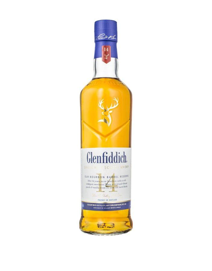 """<p><strong>Glenfiddich</strong></p><p>reservebar.com</p><p><strong>$55.00</strong></p><p><a href=""""https://go.redirectingat.com?id=74968X1596630&url=https%3A%2F%2Fwww.reservebar.com%2Fproducts%2Fglenfiddich-14-year-old&sref=https%3A%2F%2Fwww.delish.com%2Fholiday-recipes%2Fg36255685%2Famazon-fathers-day-gifts%2F"""" rel=""""nofollow noopener"""" target=""""_blank"""" data-ylk=""""slk:BUY NOW"""" class=""""link rapid-noclick-resp"""">BUY NOW</a></p><p>You can never go wrong with a bottle of scotch. Just slap a bow on it and you're golden. </p>"""