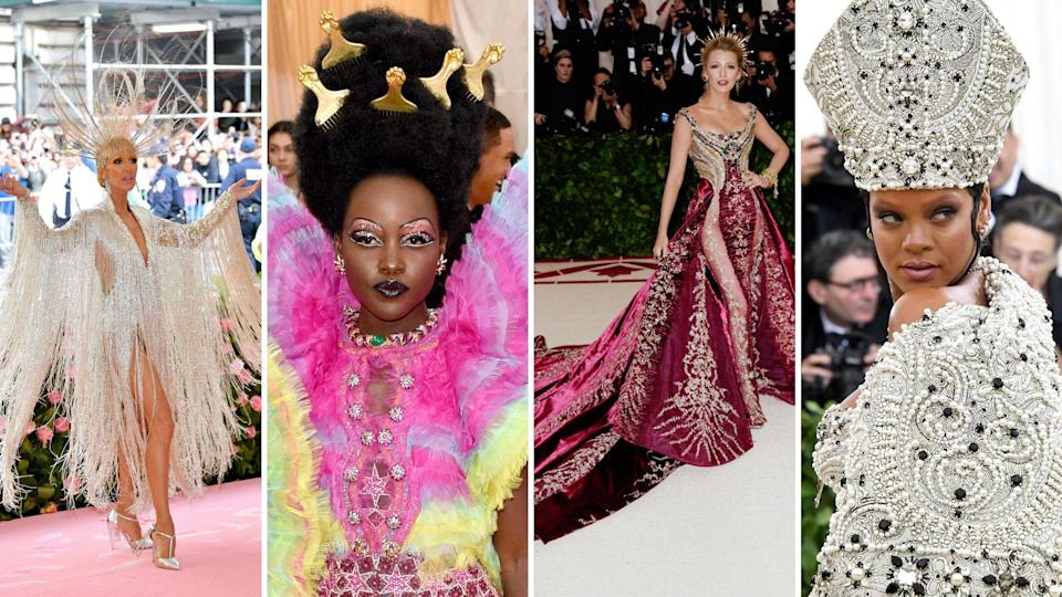 Celine Dion, Lupita Nyong'o, Blake Lively and Rihanna have all attended Met Galas. Images: Getty