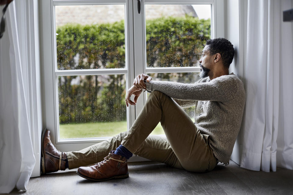 Loneliness has been linked to cancer in a study of middle-aged men. (Posed by a model, Getty Images)