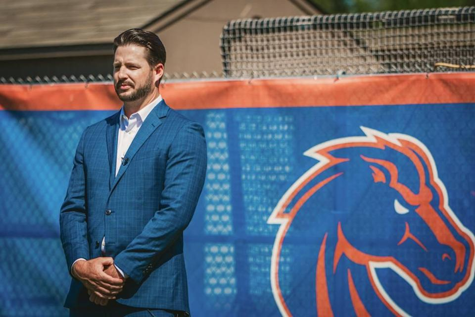 Boise State softball coach Justin Shults was introduced on Friday. He spent the past three seasons as an assistant at Oregon, serving primarily as hitting coach.