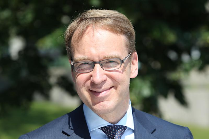 President of the Deutsche Bundesbank Jens Weidmann poses for a photo at the bank's headquarters in Frankfurt am Main on July 11, 2014