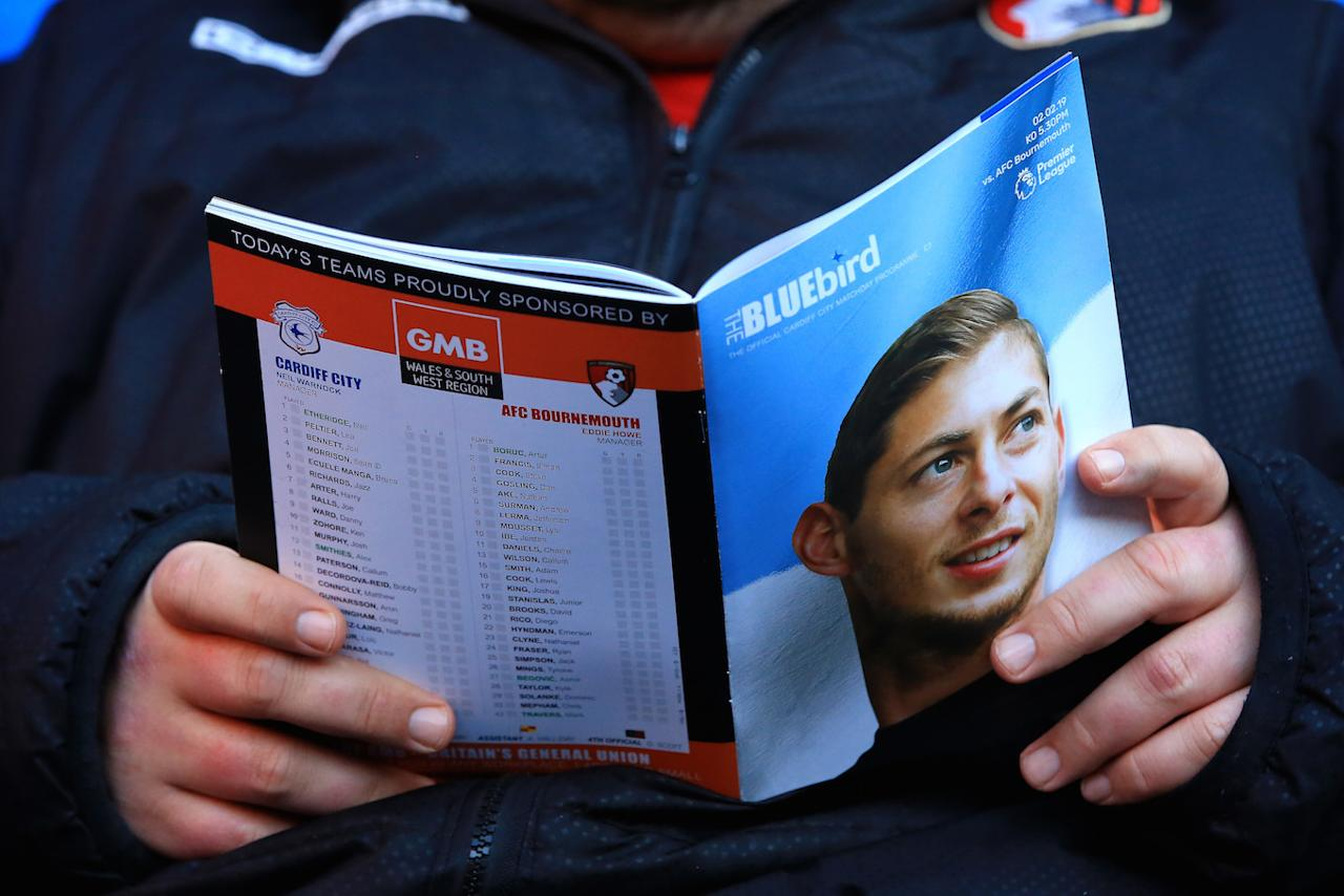 Argentine footballer Emiliano Sala was killed when the light aircraft plane taking him from France to his new club, Cardiff City, crashed over the Channel Islands in January. The body of pilot David Ibbotson has not been found (Picture: PA)