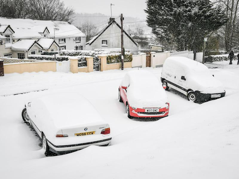 """Petrol sales volumes plunged by 7.4 per cent in March which the ONS said was a """"likely consequence of adverse weather conditions which impacted travel"""": PA"""