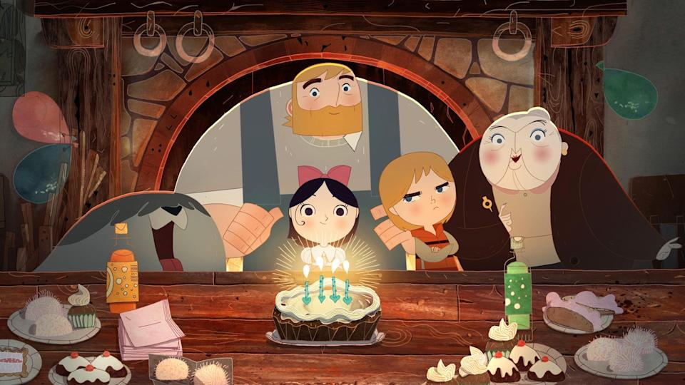 """<p><strong>Netflix's Description:</strong> """"The last of a magical race of seals that become human on dry land, Saoirse and her brother must return to the sea in this animated adventure.""""</p> <p><a href=""""https://www.netflix.com/title/80015342"""" class=""""link rapid-noclick-resp"""" rel=""""nofollow noopener"""" target=""""_blank"""" data-ylk=""""slk:Stream Song of the Sea on Netflix!"""">Stream <strong>Song of the Sea</strong> on Netflix!</a></p>"""
