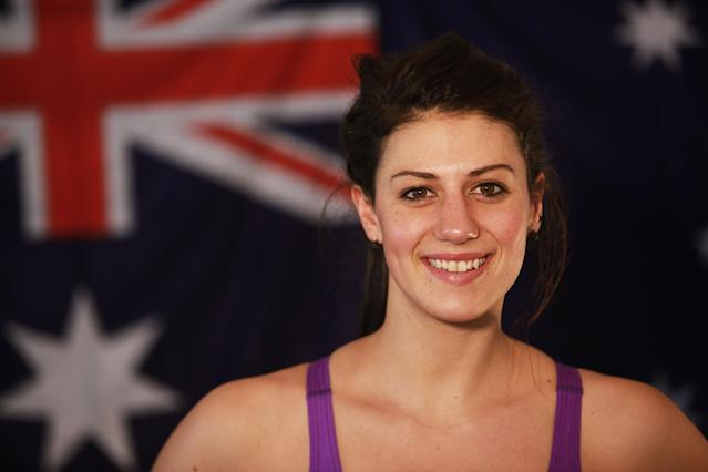 Stephanie Rice poses during an Australian Swim team portrait session at Brisbane Aquatic Centre on July 18, 2010 in Brisbane, Australia. (Photo by Jonathan Wood/Getty Images)