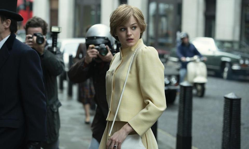 Emma Corrin in The Crown.
