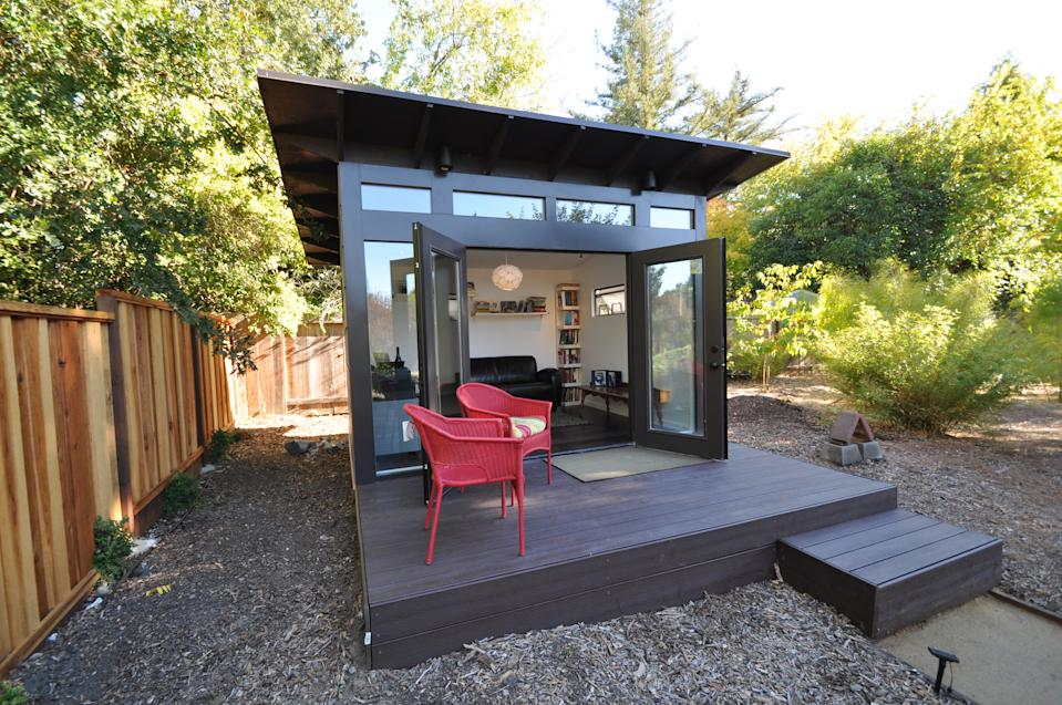 Studio Shed's stand-alone offices vary in size and cost, but average about $20,000 to $30,000, including foundation and site work costs.