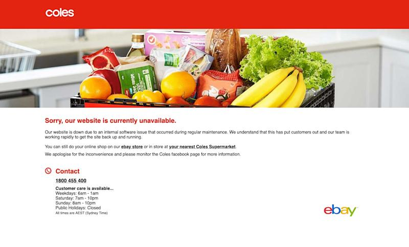 Coles Online Website Still Down Thanks To Software Issue