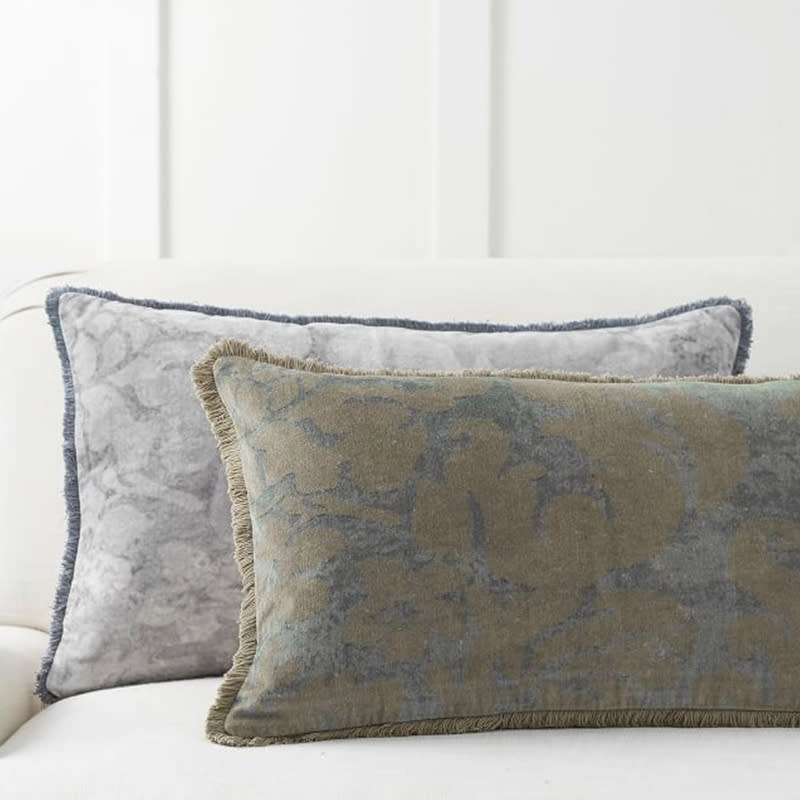 """<a rel=""""nofollow noopener"""" href=""""https://rstyle.me/n/c7f4dmchdw"""" target=""""_blank"""" data-ylk=""""slk:Talisa Print Lumbar Pillow Cover, Pottery Barn, $50&quot;Some of my favorite new products in our offerings are easy ways to update your home and welcome the season. The patina and texture of the Claudine and Talisa printed velvet pillows and the addition of bronze finishes in the clean lines of our Maxwell lanterns transition your home from summer to fall, finished with comfort and style."""""""" class=""""link rapid-noclick-resp"""">Talisa Print Lumbar Pillow Cover, Pottery Barn, $50<p>""""Some of my favorite new products in our offerings are easy ways to update your home and welcome the season. The patina and texture of the Claudine and Talisa printed velvet pillows and the addition of bronze finishes in the clean lines of our Maxwell lanterns transition your home from summer to fall, finished with comfort and style.""""</p> </a>"""