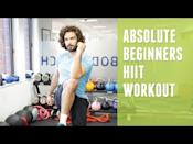 "<p>Get ready to sweat with Joe Wicks and his absolute beginners HIIT workout. You'll get comfortable with interval training and get your heart rate up too. </p><p><strong>Equipment:</strong> None</p><p><a href=""https://www.youtube.com/watch?v=5nZ2iBGvFhE"" rel=""nofollow noopener"" target=""_blank"" data-ylk=""slk:See the original post on Youtube"" class=""link rapid-noclick-resp"">See the original post on Youtube</a></p>"