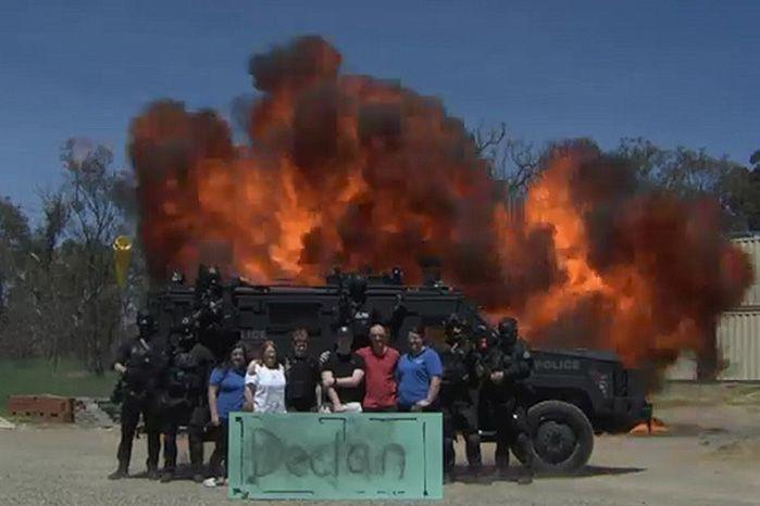 The AFP and Make-A-Wish Foundation joined forces to make Declan's dream come true.