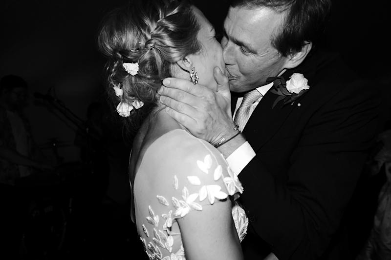 A celebratory kiss to complete our first dance—and all we have ahead.