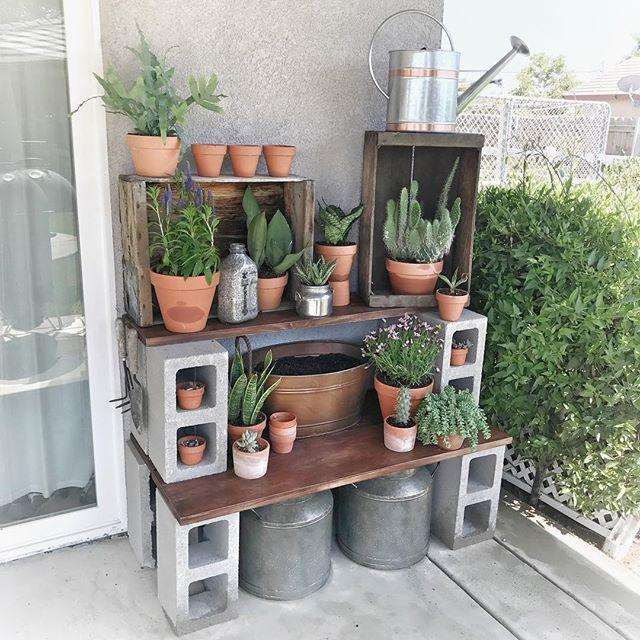 <p>Or how about a table, like this genius DIY potting station<span>? We could also see this serving well as a grilling prep table.</span></p>