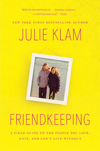 "This book cover image released by Riverhead shows ""Friendkeeping: A Field Guide to the People You Love, Hate, and Can't Live Without,"" by Julie Klam. With the holidays comes togetherness, sometimes thrust upon us. And with togetherness, especially the obligatory kind, comes major stress _ for you and your kids. But friction over the offspring of loved ones strikes all year round, leading the grown-ups to ponder whether their adult relationships are worth it. Julie Klam, a Manhattan mom and author of the new book ""Friendkeeping,"" believes middle ground is possible. (AP Photo/Riverhead)"