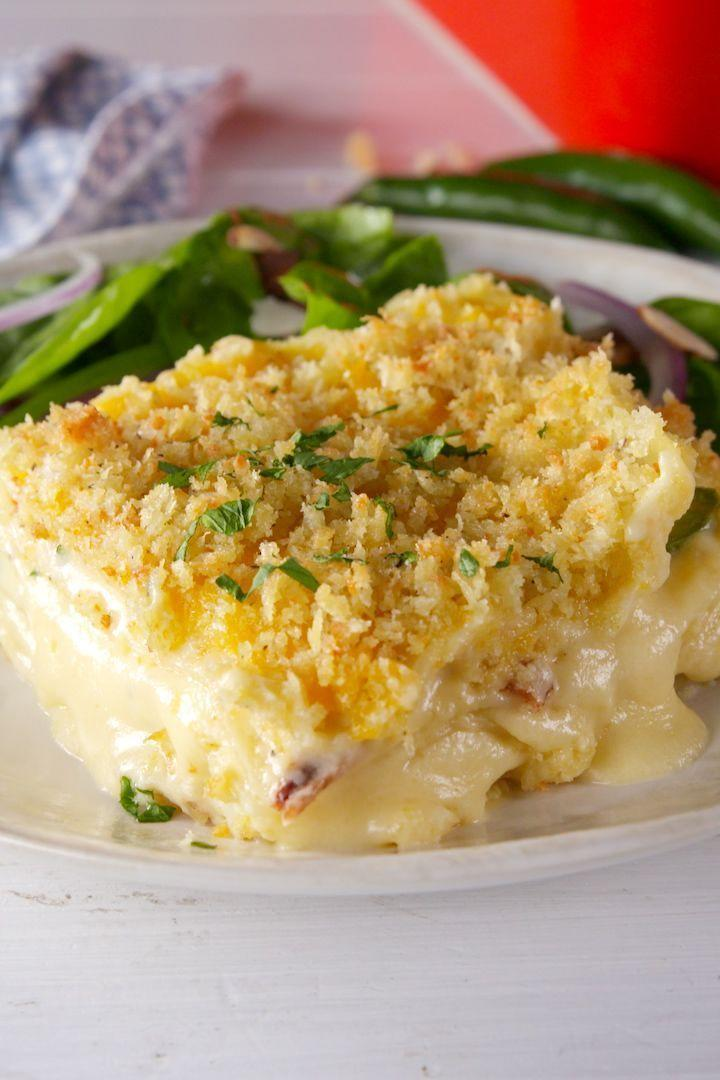 """<p>Not that there's anything wrong with regular <a href=""""https://www.delish.com/uk/cooking/recipes/a29259468/slow-cooker-mac-cheese-recipe/"""" rel=""""nofollow noopener"""" target=""""_blank"""" data-ylk=""""slk:mac and cheese"""" class=""""link rapid-noclick-resp"""">mac and cheese</a>... but this lasagne version has us SHOOK. Super creamy cheese sauce + bacon + jalapeños = the baked mac & cheese of our dreams.</p><p>Get the <a href=""""https://www.delish.com/uk/cooking/a30724851/mac-and-cheese-lasagna-recipe/"""" rel=""""nofollow noopener"""" target=""""_blank"""" data-ylk=""""slk:Mac & Cheese Lasagne"""" class=""""link rapid-noclick-resp"""">Mac & Cheese Lasagne</a> recipe.</p>"""