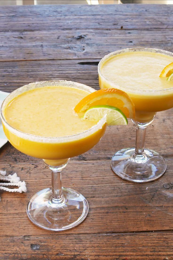 """<p>These taste just like like a creamsicle...but with an extra punch. 😉</p><p>Get the recipe from <a href=""""https://www.delish.com/cooking/recipe-ideas/a28207307/creamsicle-margaritas-recipe/"""" rel=""""nofollow noopener"""" target=""""_blank"""" data-ylk=""""slk:Delish."""" class=""""link rapid-noclick-resp"""">Delish. </a></p>"""