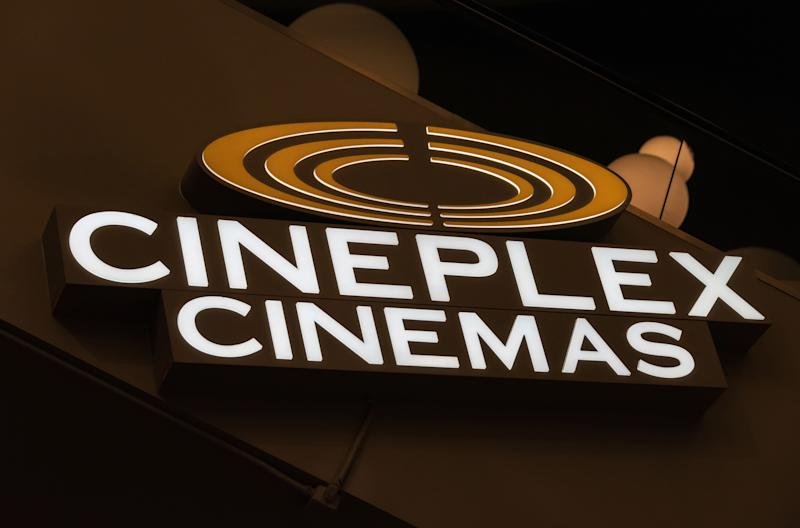 TORONTO, ONTARIO, CANADA - 2016/03/12: Cineplex theater sign: One of Canadas largest entertainment companies and operates numerous businesses including movie theatres, food services, and gaming. (Photo by Roberto Machado Noa/LightRocket via Getty Images)