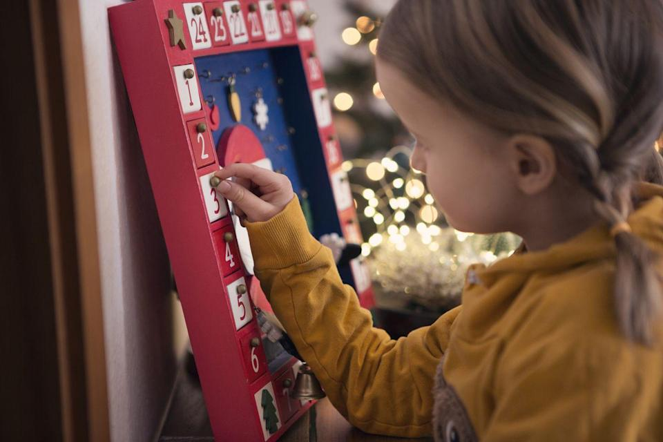 """<p>An Advent calendar will help you count down to Christmas or celebrate for 12 days in a row with a fun treat to enjoy waiting behind every little door. Make your own or buy one with a theme that the whole family will look forward to opening every day. </p><p><strong>RELATED: </strong><a href=""""https://www.goodhousekeeping.com/holidays/christmas-ideas/g4911/christmas-advent-calendar/"""" rel=""""nofollow noopener"""" target=""""_blank"""" data-ylk=""""slk:36 Christmas Advent Calendars to Make Your 2021 Holiday Season Merry and Bright"""" class=""""link rapid-noclick-resp"""">36 Christmas Advent Calendars to Make Your 2021 Holiday Season Merry and Bright</a></p>"""