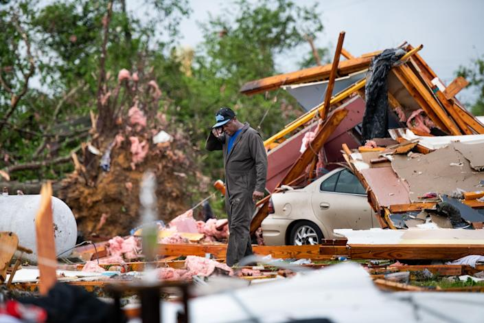 At Least 19 Dead As Severe Storms Spawn Tornados In Southern U.S. (Sean Rayford / Getty Images)