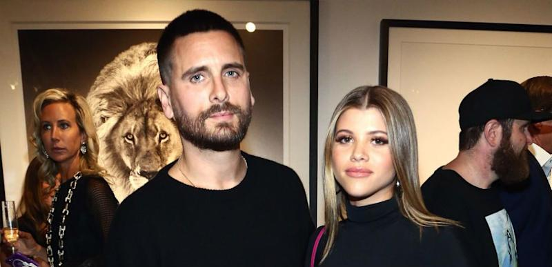 Scott Disick and Sofia Richie attend the Grand Opening Maddox Gallery.
