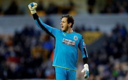 Britain Football Soccer - Wolverhampton Wanderers v Huddersfield Town - Sky Bet Championship - Molineux - 25/4/17Huddersfield Town's Danny Ward celebrates their first goalMandatory Credit: Action Images / Andrew CouldridgeLivepic
