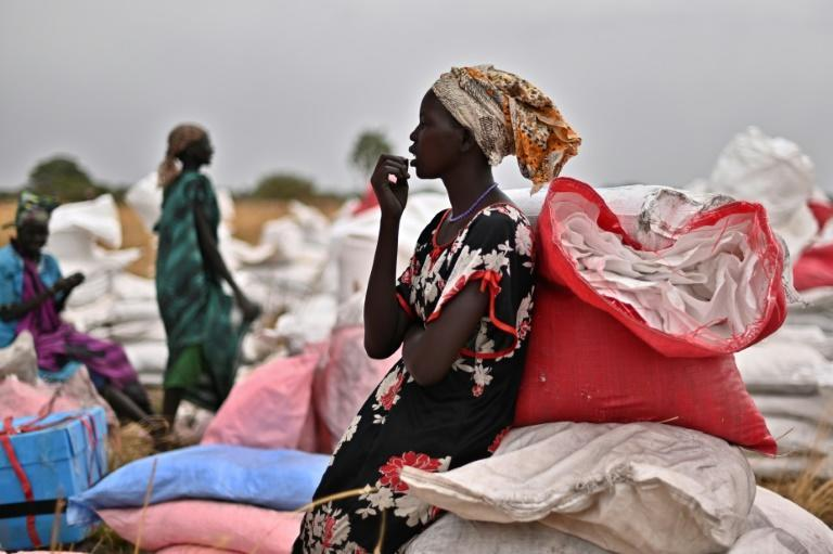 WFP aid arriving in South Sudan. Some 7.2 million people in the country are expected to be in food crisis from April to July