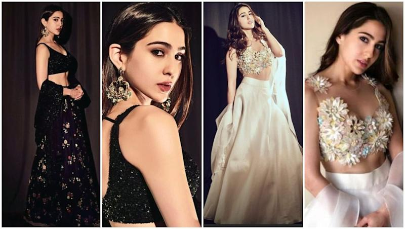Sabyasachi Mukherjee's Magical Black or Abu Jani – Sandeep Khosla's Ethereal White – Which Sara Ali Khan Look Will You Prefer for Your Best Friend's Wedding?