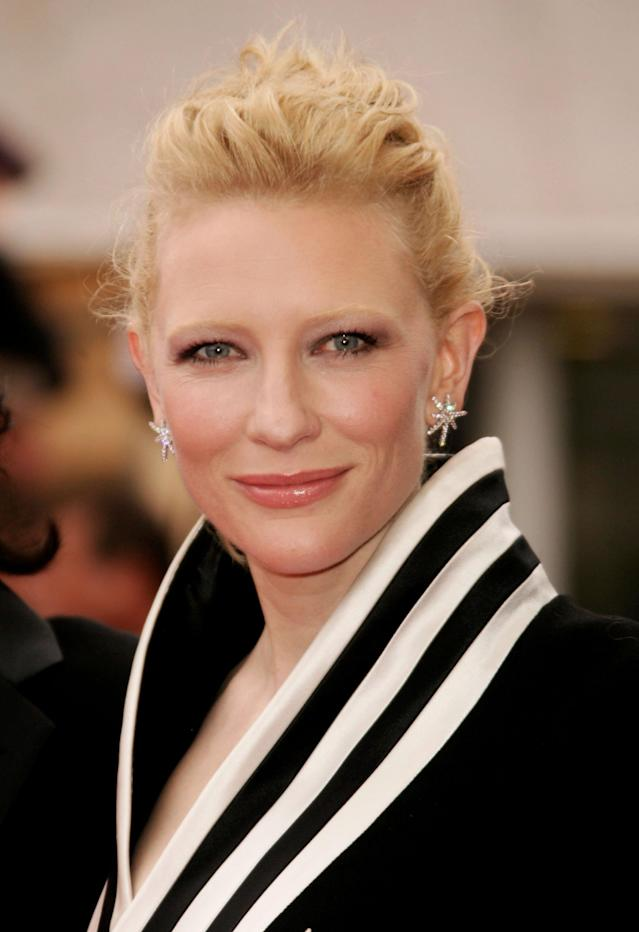 <p>Cate Blanchett attends the <em>Babel</em> premiere at the Palais des Festivals during the 59th International Cannes Film Festival on May 23, 2006, in France. (Photo ;Pascal Le Segretain/Getty Images) </p>
