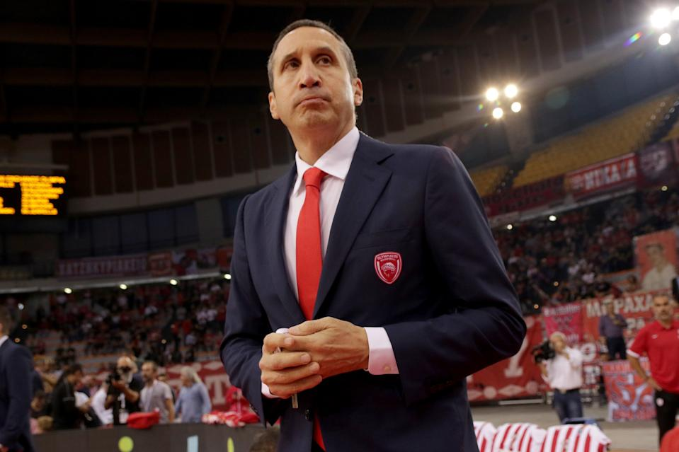 David Blatt announced his retirement from coaching after taking a Knicks front office position. (Panagiotis Moschandreou/Euroleague Basketball via Getty Images)