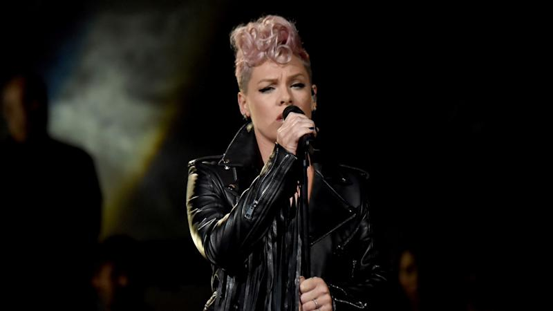 Pink Readmitted to Hospital for Gastric Virus