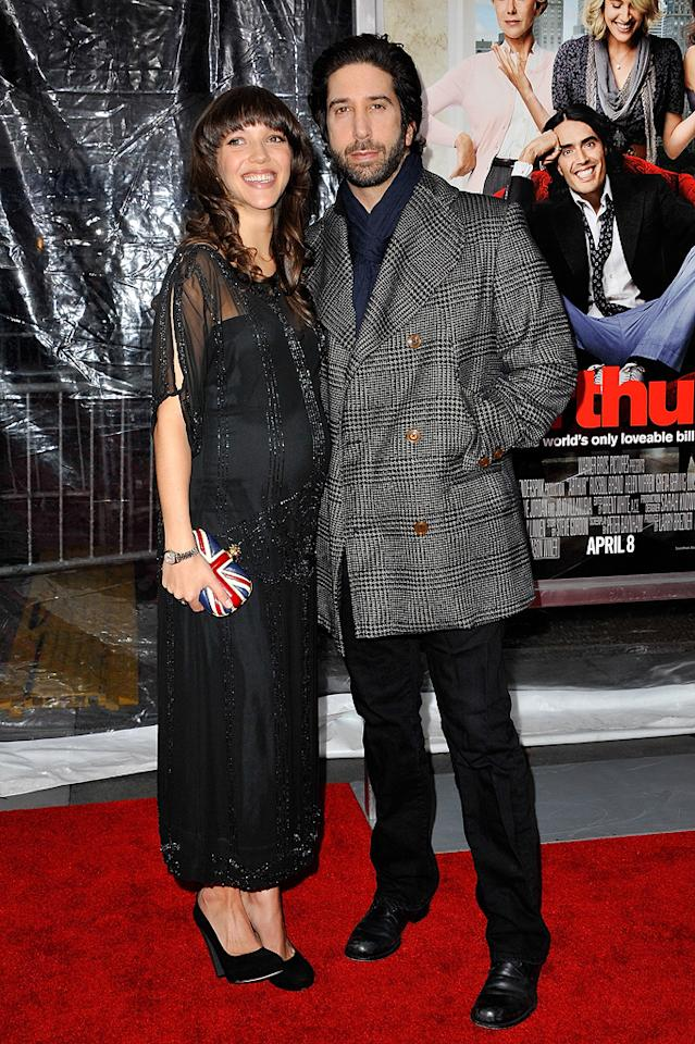 """<a href=""""http://movies.yahoo.com/movie/contributor/1800024595"""">David Schwimmer</a> and wife Zoe attend the New York City premiere of <a href=""""http://movies.yahoo.com/movie/1810167411/info"""">Arthur</a> on April 5, 2011."""