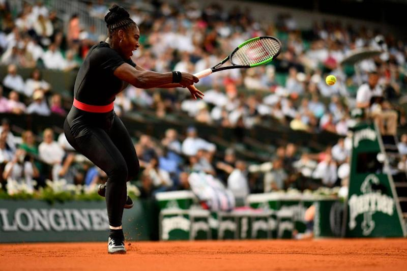 Serena Williams in action at the French Open (Getty)