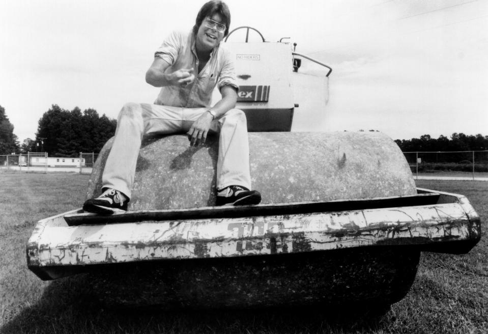 Stephen King on the set of 'Maximum Overdrive' (Photo: De Laurentiis Entertainment Group/courtesy Everett Collection)